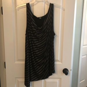Black and gold dressy tank